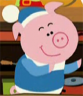The farting pig from the Belgian children's cartoon