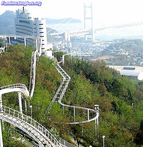 A human powered roller coaster ride