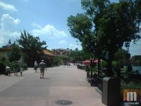 Not too crowded in the Epcot World Showcase