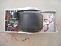 Home made self-balancing single wheeled transport device