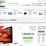 Swoopo TV auction screenshot