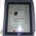 iPad on top of case
