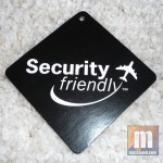 Tag from the packing showing airport security compliance